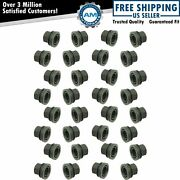 Flanged Flat Face Wheel Lug Nut Steel Kit Set Of 32 For Ford Lincoln Brand New