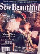 Sew Beautiful-vintage Issue-fall,1997-heirloom Blouse,6smocking Plates,appliques