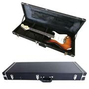 New Protable Electric Guitar Square Hard Case W/ Silver Hardware And Lock