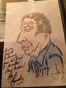 George Kennedy Signed / Autograph Picture / Drawing 1970's