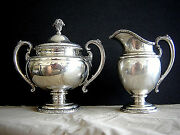 Estate Towle 25oz Sterling Silver Creamer And Covered Sugar Set 76540 Very Nice