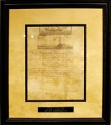 John Quincy Adams Naval Ship Papers Signed As 6th President And Secretary Of State