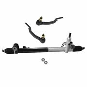 Power Steering Rack Assembly And Outer Tie Rod End Kit Set For Gm Truck Suv New