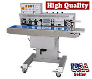 Table Top Stainless Steel Horizontal Band Sealer W/ Ink Coding Printer And Stand
