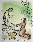 Marc Chagall The Odyssey..ulysses And Euryclea. Hand Signed Lithograph 1974/75