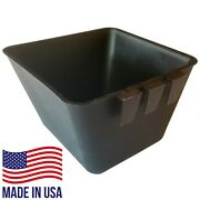 Bulk Cage Cups 100pcs Square 1.2 Quart Cup Black Hanging Feed And Water Chickens