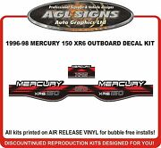 1996 1997 1998 Mercury 150 Xr6 Outboard Decal Kit Reproductions.