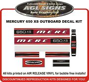 Mercury 650 Xs Outboard Decal Kit Reproductions Mid 70and039s