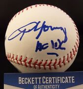 Angus Young Ac/dc Full Sig Signed Autographed Baseball Ball Beckett Certified