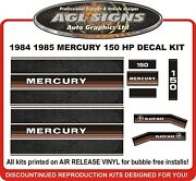 1984 1985 Mercury 150 Hp Replacement Outboard Decals Also 200 Hp