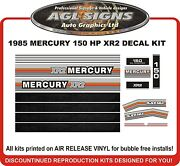 1985 Mercury 150 Hp Xr2 Outboard Decals Reproductions