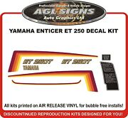 Yamaha Enticer Et 250 T Reproduction Decal Kit