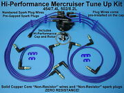 Tune Up Mercruiser Chevy 454 7.4 502 8.2 Spark Plug Wires Distributor Cap Rotor