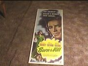 Born To Kill 1946 Insert 14x36 Movie Poster Lawrence Tierney Film Noir Classic
