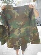 Usmc Army Extended Cold Weather Woodland Gortex Camo Parka Size Med Reg
