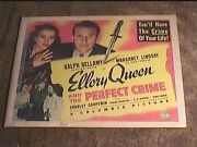 Ellery Queen And Perfect Crime 1941 Half Sheet 22x28 Movie Poster Ralph Bellamy