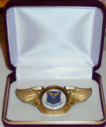 Air Force Global Strike Command Fighter Squadron Pilot Crew Wing Jacket Hat Pin