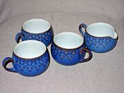 Rare Collectible Coloroll Denby 3 Cups And Milk Jug Set