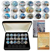 Complete Set Wtc 9/11 Us Mint New York State Quarter 18-coin Set With Box