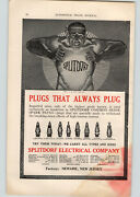 1914 Paper Ad 2 Pg Color Splitdorf Plugs Atwater Kent Iginition System