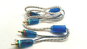 3 X Sound Quest 20and039 Rca Interconnects Audio Cable W / Led Car Audio Patch Lrca20