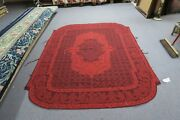60 X 72 Antique 18th Century French Aubusson Hand Stitched Wool Rug Panel Red