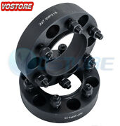 2x 1.5and039and039 6 Lug Black Hubcentric Wheel Spacers Adapters 6x5.5 For Chevy Silverado