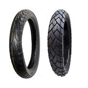 Front And Rear 6 Ply Motorcycle Tires Set 100/90-19 And 130/80-17