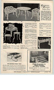 1959 Paper Ad Confederate Foundry Patio Furniture Settee Tree Bench Chairs