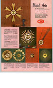 1959 Paper Ad 2 Sided Welby Pegasus Golden Wheat Minstrel Sabre Wall Clock
