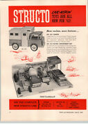 1962 Paper Ad 2 Pg Structo Toy Camper 203 916 Paving Department 196 School Bus