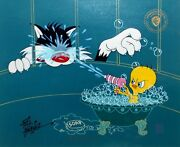 The Squirt Hand Signed Friz Freleng Limited Edition Cel Looney Tunes Sylvester