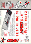1962 Paper Ad Comet Balsa Wood Toy Model Airplane Carrom Board Game