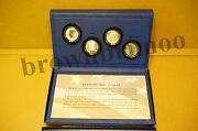 2014 50th Anniversary Kennedy Half-dollar 4 Silver Coin Collection K13 In Hand
