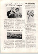 1955 Paper Ad Steven Manufacture Pixie Gryroscope Toy Top Article Davy Crockett