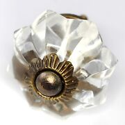 Glass Knobs For Drawers Cabinet Handle And Pulls Antique Brass Hardware K21-12