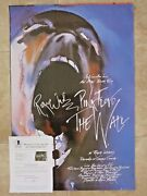 Roger Waters Pink Floyd Signed Autographed 24x36 Poster Bas Certified The Wall