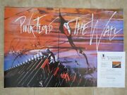 Roger Waters Pink Floyd Signed Autograph 24x36 Poster Bas Certified The Wall 2