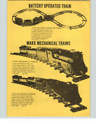 1957 Paper Ad Marx Toy Play Mechanical Electric Train Sets Steam Diesel Smoking