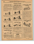 1927 Paper Ad 10 Pg Stanley Siegley Bed Rock Bailey Wood Plane Tools Bartlettand039s