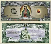 The Virgin Mary Our Blessed Lady Color Novelty Money Note United States