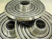 1969 Pontiac Hubcaps 15 Wheel Cover Pmd Lot Of 3