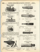 1923 Paper Ad Hollow Canvas Collapsible Hand Painted Duck Decoy Johnson Folding
