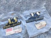 Yamaha Xs250 Special L/r Emblem Nos Genuine Japan P/n 17a-21781-00and17a-21782-00