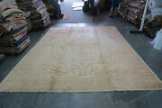 Vintage Turkish Oushak Sivas Rug Wool Hand Knotted 9and0398 X 12and0398 Distressed