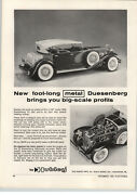 1963 Paper Ad Hubley Toy 1930 Duesenberg Accurate Engine Detail Structo Jeep