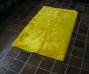 Canary Yellow Flokati Faux Fur Rug Soft Plush 2and039 X 4and039