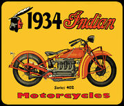 Indian Motorcycle Mouse Pad Mousepad Art Vintage Sign Retro Collector Gift