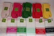 New Kate Spade All In Good Taste Set Of 2 Kitchen Dish Towels Or 2 Pot Holders