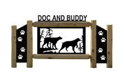 Brittany Spaniel -dogs - Pets - Clingermans Rustic Log Signs